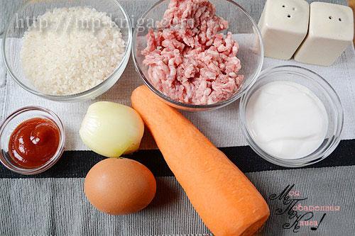 ежики из фарша с рисом рецепт в сметанном соусе